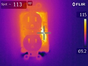 Over heating aluminum wiring infrared electrical inspections