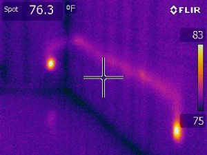 thermal imaging detects aluminum wiring over heating
