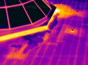 thermal imaging done on a Ft Worth home - flat roof